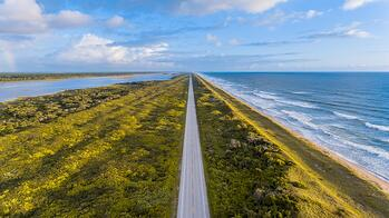 florida road by the ocean