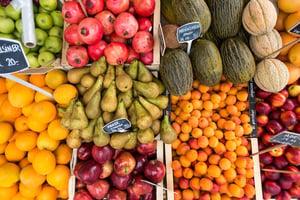 fresh fruit on display