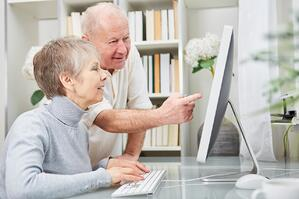 seniors with technology