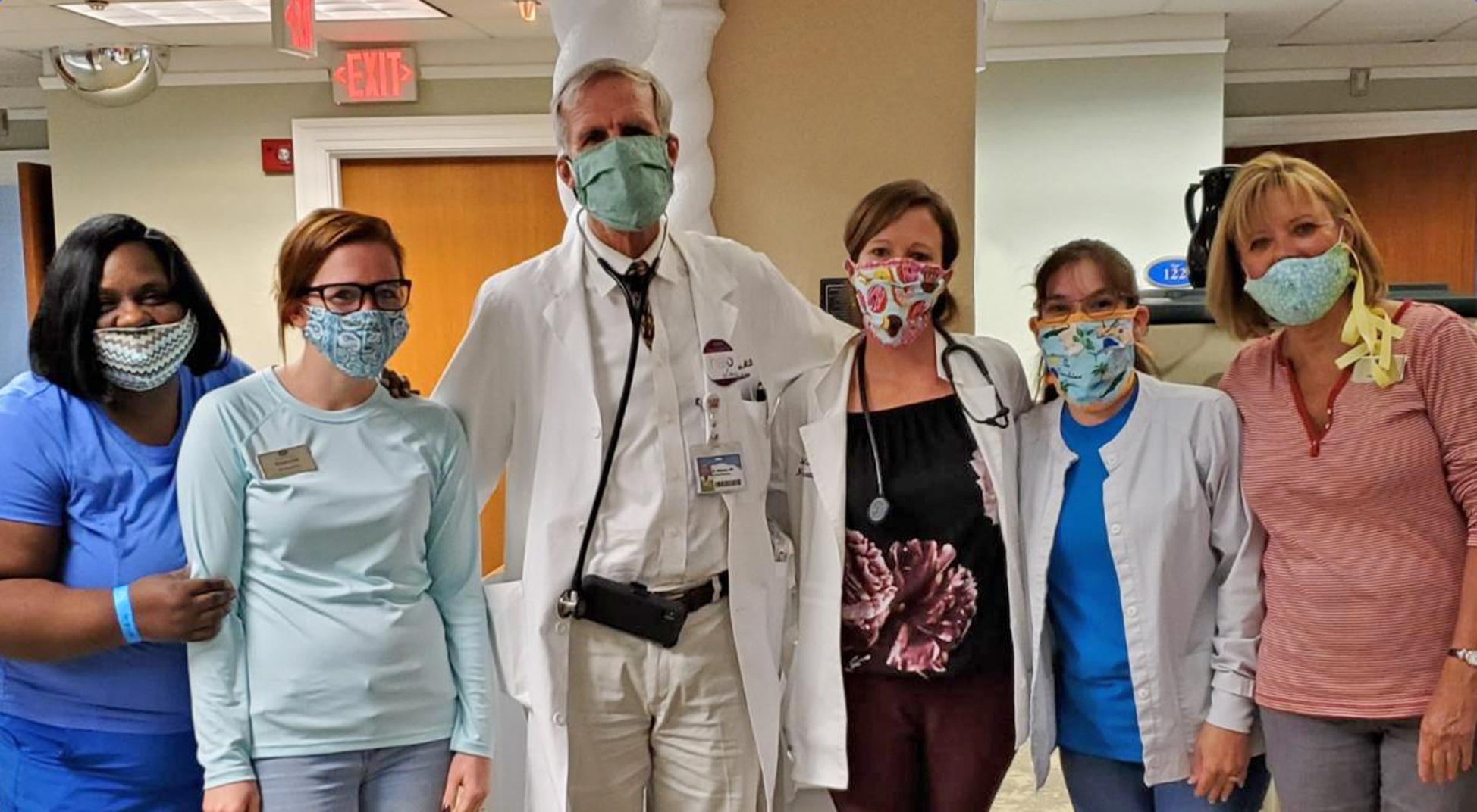 doctors and nurses with masks