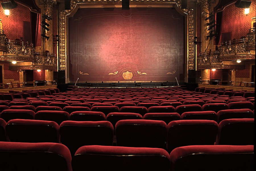 inside of theatre and chairs